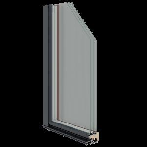 Sisseavanev puitalumiinium rõduuks S88A